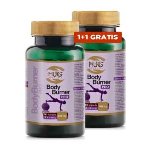 1+1 Gratis Hug, Bodyburner Pro, 60 Kapsula, Za Poticanje Metabolizma, 15 Aktivnih Sastojaka