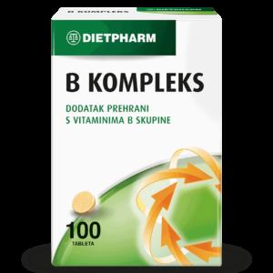 Dietpharm B Kompleks 100 Tableta Za Održavanje Zdravlja Živčanog Sustava.png