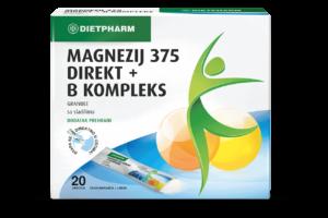 Dietpharm Magnezij 375 Direkt B Kompleks 20 Vrećica Kod Stresa I Gubitka Koncentracije.png