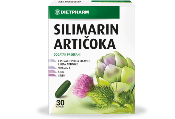 Dietpharm Silimarin Artičoka 30 Kapsula Doprinosi Normalnoj Funkciji Jetre.png