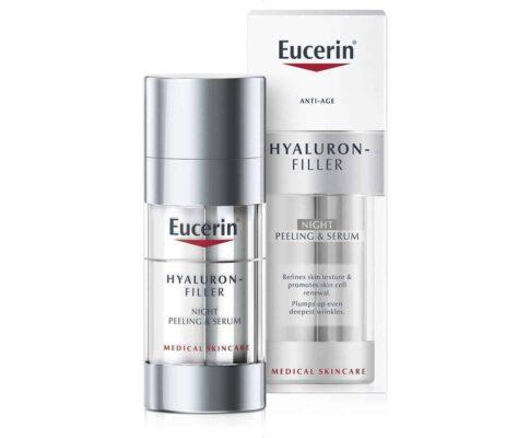 Eucerin Hyaluron Filler Noćni Piling I Serum 2x15 Ml Alfa Hidroksilna Kiselina I Hijaluronska Kiselina