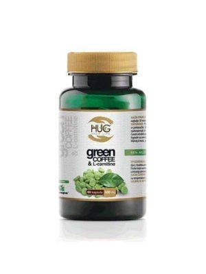 Hug Green Coffee & L Karnitin 60 Kapsula Poboljšava Učinke Mršavljenja, Pojačava Energiju Kod Fizičkog Napora