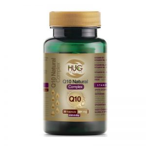 Hug Q10 Natural Complex, 30 Kapsula, Protiv Umora I Iscrpljenosti, Za Stvaranje Energije
