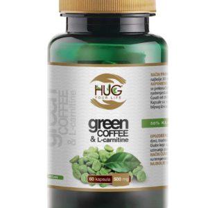 Hug Zelena Kava & L Karnitin 60 Kapsula Poboljšava Učinke Mršavljenja, Pojačava Energiju Kod Fizičkog Napora