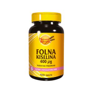 Natural Wealth Folna Kiselina 100 Tableta Za Žene U Reproduktivnoj Dobi
