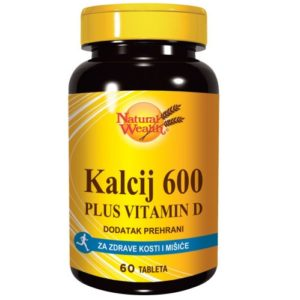 Natural Wealth Kalcij 600 Vitamin D 60 Tableta.jpg