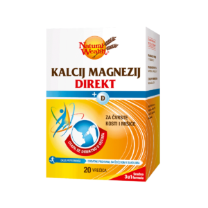 Natural Wealth Kalcij Magnezij Direkt + D Vitamin 20 Vrećica Jedna Vrećica Na Dan