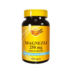 Natural Wealth Magnezij 250 Mg 100 Kod Stresa, Psihičkih Napora, Grčeva U Mišićima, Žgaravice, Usporene Probave