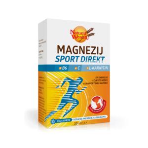 Natural Wealth Magnezij Sport Direkt + B6 + C + L Karnitin 20 Vrećica Za Imunitet I Funkciju Mišića