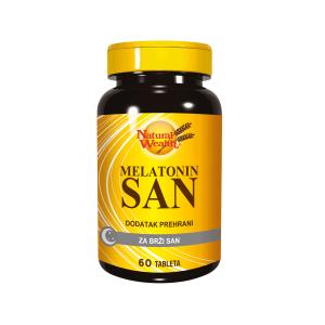 Natural Wealth Melatonin San 60 Tableta 1mg Kraće Vrijeme Da Zaspite