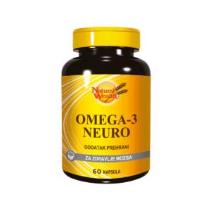 Natural Wealth Omega 3 Neuro 60 Kapsula Štiti Moždane Funkcije