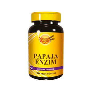 Natural Wealth Papaja Enzim 100 Ili 250 Tableta Za Žvakanje Za Smirivanje Želučanih Tegoba