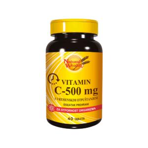 Natural Wealth Vitamin C 500 Mg Za Otpornost Organizma