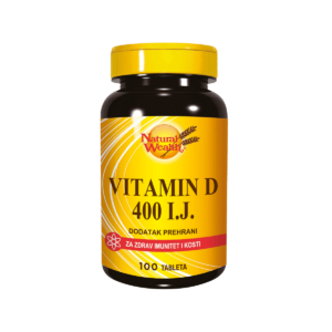Natural Wealth Vitamin D 400 I.j. 100 Tableta