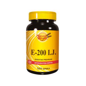 Natural Wealth Vitamin E 200 100 Kapsula Za Starije, Sportaše, Probleme S Cirkulacijom