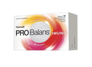 Pharmas Probalans Imuno 30 Kapsula Dobre Bakterije, Vitamin C I Cink