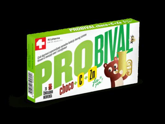 Probival Choco +c +zn, 20 Čokoladnih Medvjedića, Dobre Dječje Bakterije