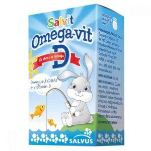Salvit Omega Vit D Kapi 15ml Kapi Za Dojenčad S Mliječnim Okusom
