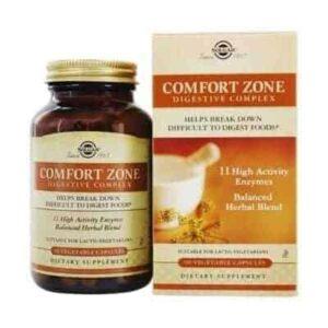 Solgar Comfort Zone Digestive Complex 90 Kapsula Kompleks 11 Prirodnih Probavnih Enzima