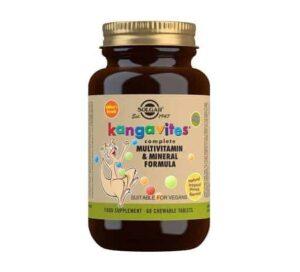 Solgar Kangavites, 60 Tableta Za Žvakanje, Vitamini, Minerali, Bioflavonoidi I Lecitin Za Djecu I Mlade