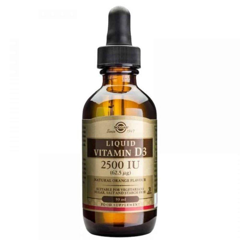 Solgar Vitamin D3 Liquid 25000 Iu Tekući Oblik 59 Ml Okus Naranče