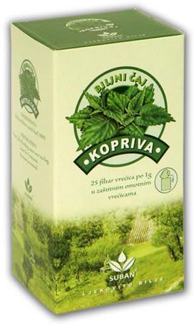 Suban Kopriva Čaj Za Bolju Funkciju Mokraćnih Puteva 25 Filter Vrećica