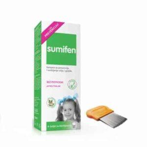 Sumifen Šampon Za Prevenciju I Suzbijanje Ušiju I Gnjida 150ml + Češalj