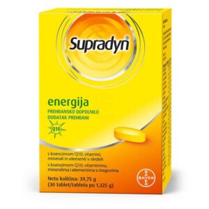 Supradyn Energija 30 Tableta Prirodna Energija S Koenzimom Q10