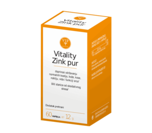 Vip Vitality Zink Pur, 60 Kapsula, Za Hormone, Regeneraciju Kose, Kože I Noktiju