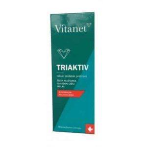Vitanet Triaktiv Tekući Dodatak Prehrani 150 Ml (zelen Plućnjaka, Isl. Lišaj, Jaglac)