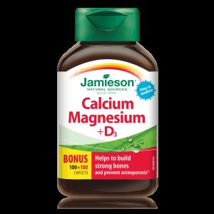 Jamieson Kalcij, Magnezij I Vitamin D3, 200 Tableta, Za Normalne Kosti I Zube