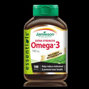Jamieson Omega 3, Extra Snaga, 700mg, 100 Kapsula, Bez Okusa Ribe