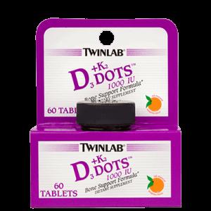 Twinlab Vitamin D3 1000 Iu + K2 60 Tableta Za Održavanje Kostiju, Normalne Funkcije Mišića I Zubi