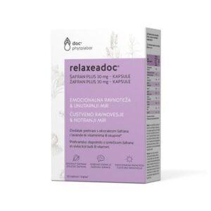 Relaxeadoc Šafran I Lavanda Plus 30 Mg X 30 Kapsula, Za Emocionalnu Ravnotežu I Mir