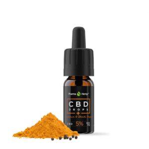 Pharmahemp Cbd Kapi 5% (kurkumin + Ekstrakt Crnog Papra) 10ml 1