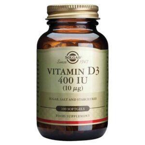Solgar Vitamin D3 10 μg 100 Kapsula