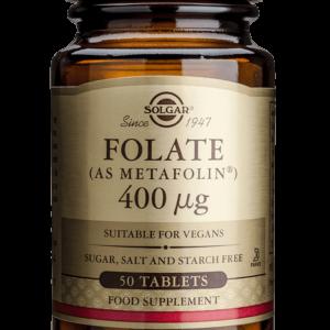 Solgar Folat 400mcg 50 Tableta
