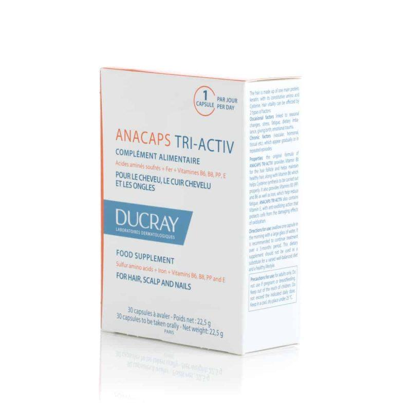 Ducray Anacaps Tri Aktiv 30 Kapsula Za Snagu I Protiv Ispadanja Kose 2