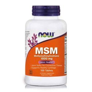 Now Foods Msm 1500mg, 100 Tableta