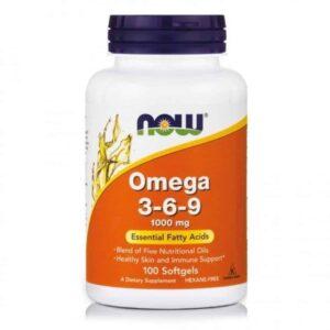 Now Foods Now Foods Omega 3 6 9, 100 Kapsula, Za Zdravu Kožu I Imunitet