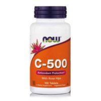 Now Foods Vitamin C 500mg, 100 Kapsula, Antioksidans