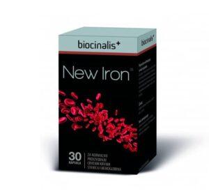 Biocinalis New Iron Željezo, 30 Kapsula, S Dodatkom Vitamina