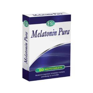 Esi Melatonin Pura, 60 Ili 120 Mikrotableta, Ekonomično 4 Mjesečno Pakiranje