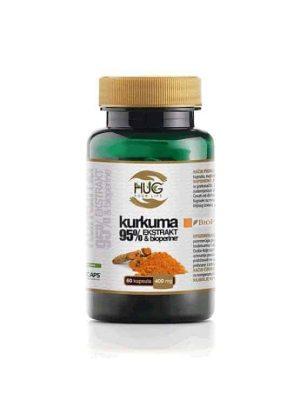 Hug Kurkuma 95% Ekstrakt & Bioperine, 60 Kapsula