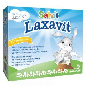 Salvit Laxavit, 16 Vrećica, Kod Kronične Konstipacije, Od 6 Mjeseci Starosti