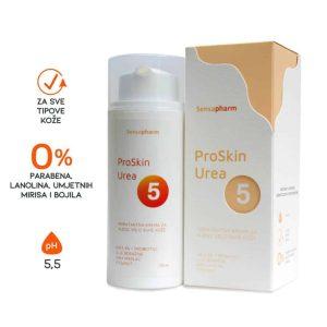 Sensapharm, Proskin Urea 5% Krema, 100ml, Ulje Boražine, Shea Maslac, Vitamin F