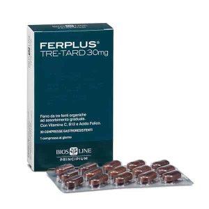 Bios Line, Ferplus, Željezo, 30 Želučanootpornih Tableta