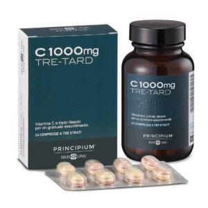 Bios Line, Vitamin C, 1000mg, 24 Troslojne Tablete, 3 Sloja Vremenskog Otpuštanja Doze