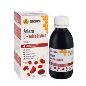 Medex, Željezo + Vitamin C + Folna Kiselina, Sirup, 150ml