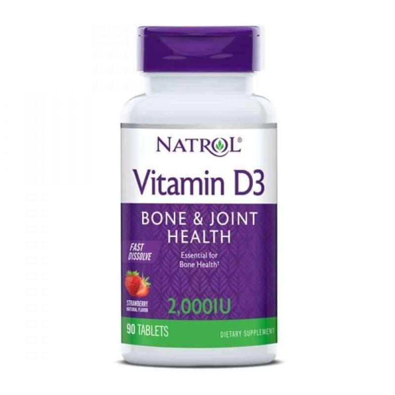 Natrol, Vitamin D3, 2.000 I.u. (50 Mcg), 90 Tableta, Zdravlje Kostiju I Imunitet